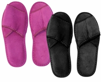 SALE! Shoe Sale! One Size Fits Most Black or Purple Velcro Slippers
