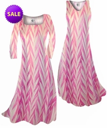 SOLD OUT! SALE! Opalescent Pink Zebra Slinky Print  Plus Size & Supersize A-Line Dresses 2x