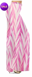 SOLD OUT! SALE! Opalescent Pink Zebra Slinky Print Special Order Plus Size & Supersize Palazzo Pants 2xT