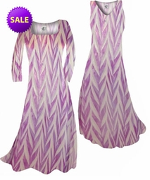 CLEARANCE! Opalescent Purple Zebra Slinky Print Plus Size Princess Cut Tank Dresses 0x