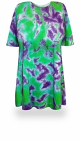 SALE! Passion Flower Tie Dye Plus Size T-Shirt L XL 2x 3x 4x 5x 6x