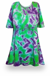 SALE! Passion Flower Tie Dye Plus Size & Supersize X-Long T-Shirt 0x 1x 2x 3x 4x 5x 6x 7x 8x