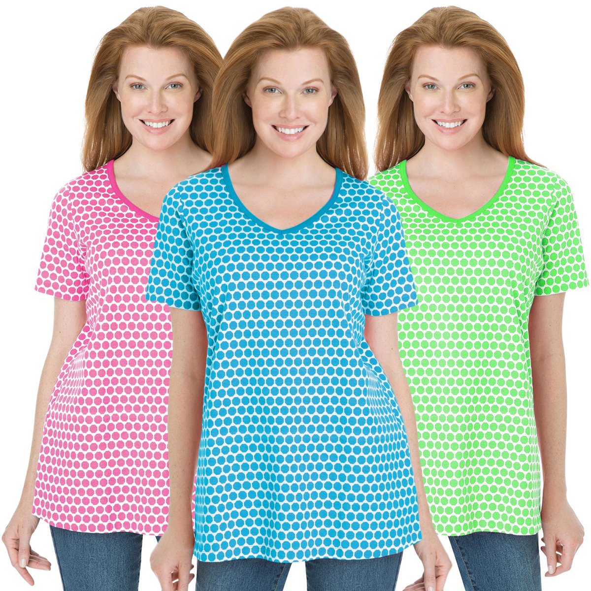 Sale perfect dot v neck plus size tee t shirt 3x 4x for 3x shirts on sale