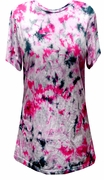SOLD OUT! Pink Black White Tie Dye Plus Size T-Shirt
