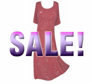 SOLD OUT! FINAL SALE! Pink Glittery A-Line Plus Size & Supersize Tank Dress 0X/1X