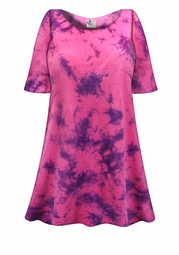 SALE! Pink & Purple Marble Tie Dye Plus Size & Supersize X-Long T-Shirt 0x 1x 2x 3x 4x 5x 6x 7x 8x