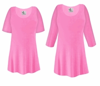 CLEARANCE! Plus Size Pink Slinky Top 1x 2x