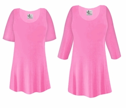 FINAL CLEARANCE SALE! Plus Size Pink Slinky Top 2x