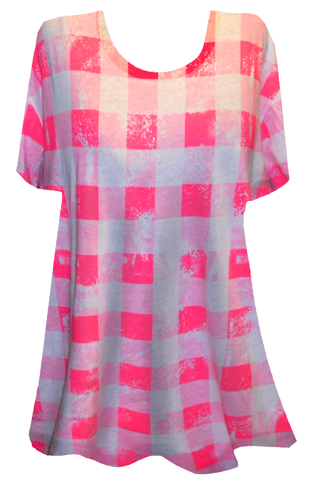 Sold Out Sale Pink White Checkered Plus Size
