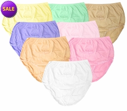 FINAL CLEARANCE SALE! Plain Cotton Panties in Pastel Colors Plus Size 10W 11W 12W