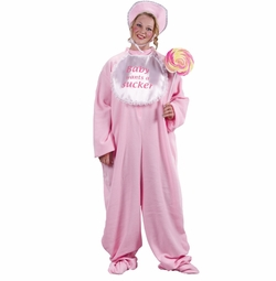 SOLD OUT! SALE! Plus Size Be My Baby Jammies (Pink) Adult Plus Costume 16w-22w 1x