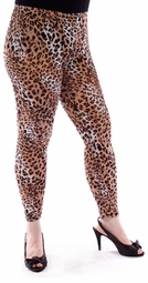 SALE! Plus Size Beige Leopard Leggings 1x 2x