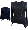 SALE! Plus Size Black or Navy Sharktail Side Zippered Jacket 3x 4x 5x