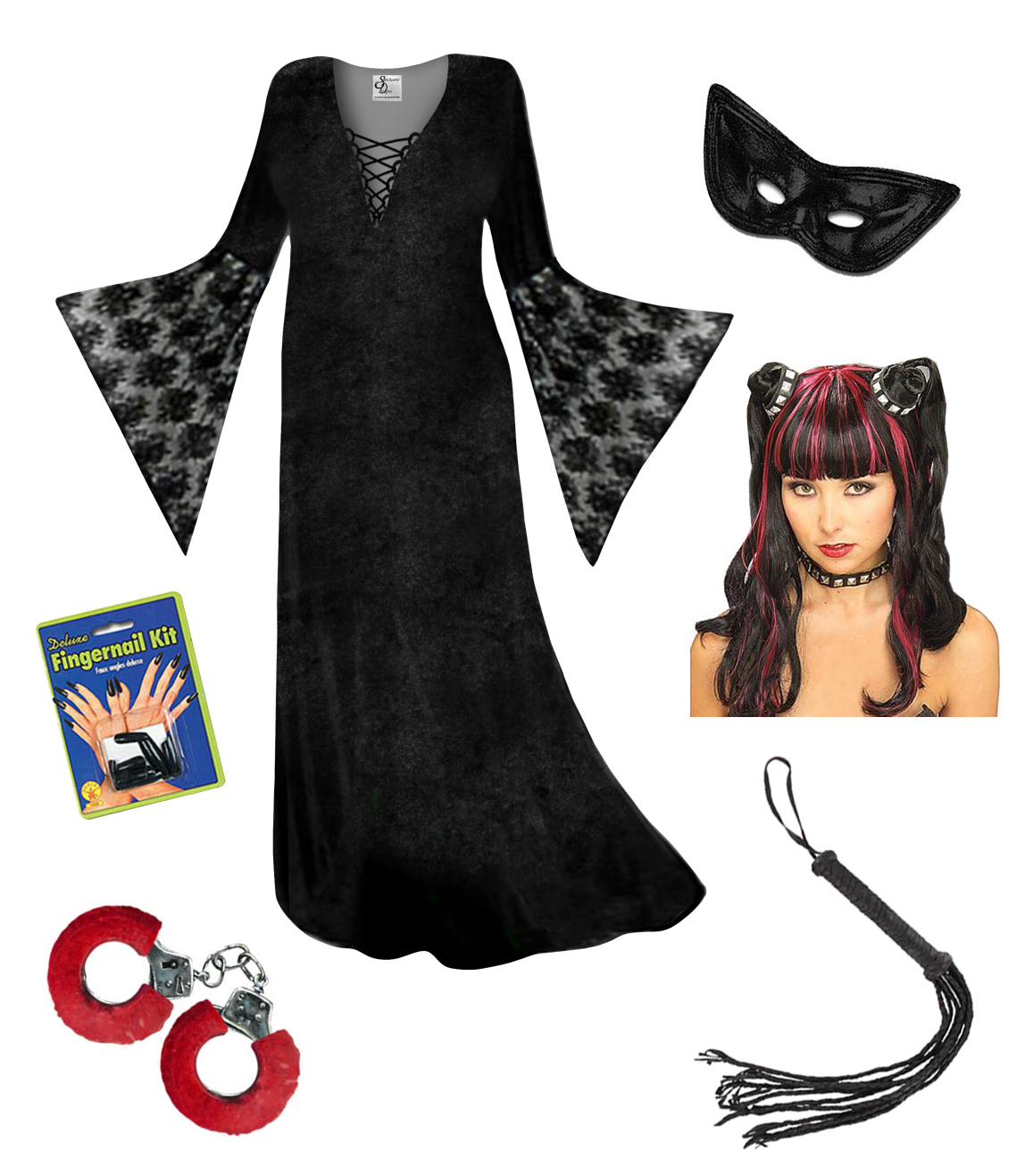 sale plus size dominatrix halloween costume lg xl 1x 2x 3x 4x 5x 6x 7x - Sale Halloween Costumes