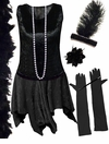 CLEARANCE! Plus Size  Roaring 20's Black Flapper Costume Plus Size & Supersize 8x