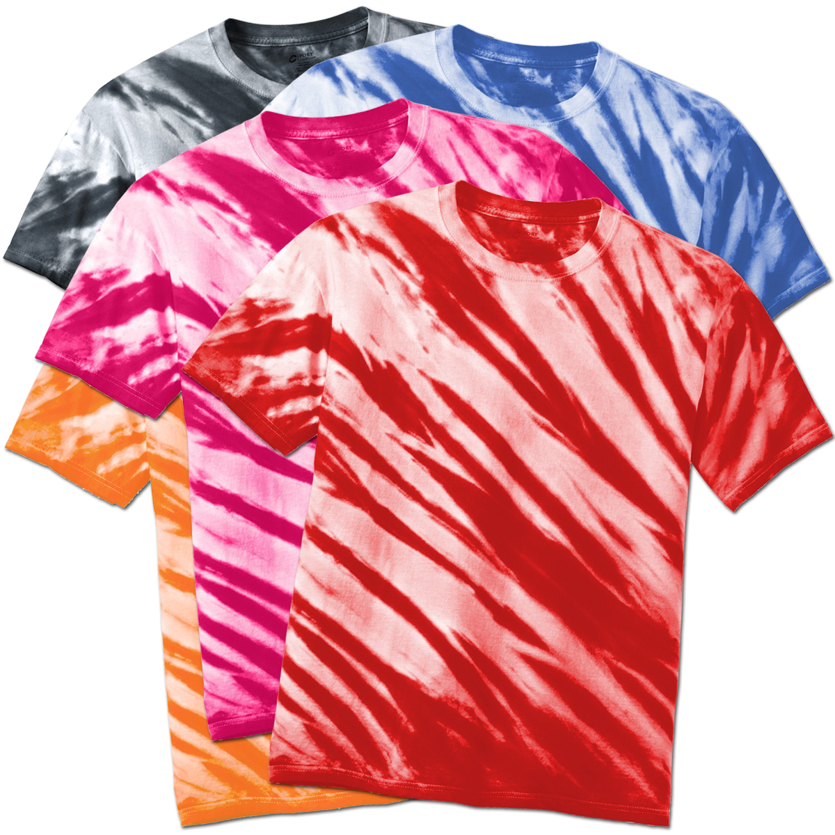 Clearance Plus Size Short Sleeve Lines Tie Dye T Shirts