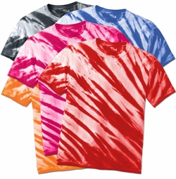 CLEARANCE! Plus Size Short Sleeve Lines Tie Dye T-Shirts XL 2x 3x 4x 5x 6x