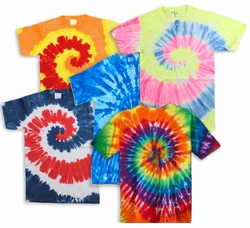 FINAL CLEARANCE SALE! Plus Size Short Sleeve Swirl Tie Dye T-Shirts 2x 3x 4x 6x