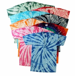 FINAL CLEARANCE SALE! Plus Size Short Sleeve Burst Tie Dye T-Shirts 2x 3x