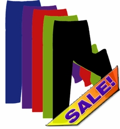 CLEARANCE! Plus Size Spandex Pants Black Navy Off-White Dark-Purple 0x 3x 6x 9x