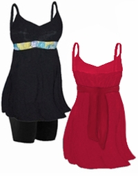 FINAL CLEARANCE SALE! MANY COLORS! Plus Size Empire Waist Babydoll Swim Tank Tops 0x 1x 4x