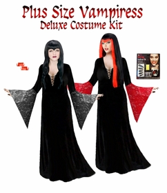 SALE! Plus Size Vampiress Morticia Costume Vampire Costume - Plus Size & Supersizes Lg XL 1x 2x 3x 4x 5x 6x 7x 8x 9x