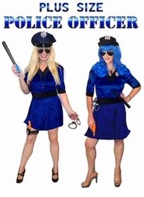 SOLD OUT! FINAL CLEARANCE SALE! Police Officer Deluxe or Economy Kit Plus Size & Supersize Halloween Costume 3x
