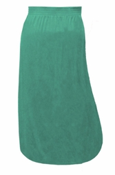 SOLD OUT! Solid Color Poly/Cotton Full Length Plus Size Skirts Green