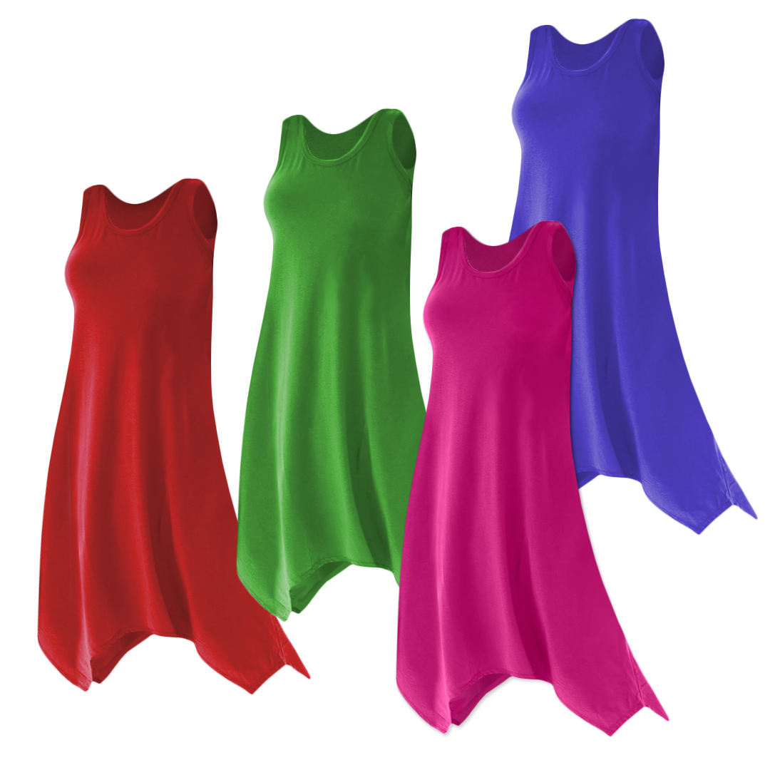 1920898fe9 Plus Size Solid Color Poly Cotton Jersey Swimsuit Cover Up Dresses   Shirts