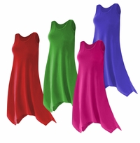 CLEARANCE! Plus Size Solid Color Poly/Cotton Jersey Swimsuit Cover Up Dresses & Shirts 2x 4x