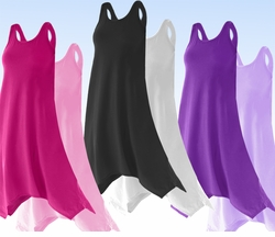 CLEARANCE! Poly Cotton Jersey Plus Size Swimsuit Cover Up Dresses & Shirts Supersize 1x