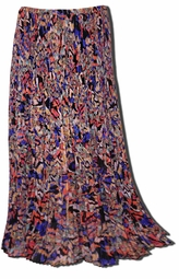 SOLD OUT!!!! Pretty Colorful Accordion Pleats Long Plus Size Skirt 22w 24w 2x 3x