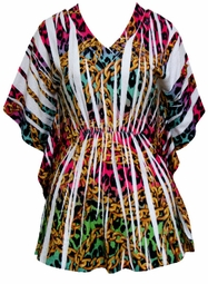 SOLD OUT! Just Reduced! Pretty Colorful Plus Size Sublimation Slinky Tunic Top 4x 5x