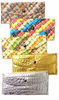 SALE! Pretty Glossy Embossed Colorful Candy Print or Shiny Metallic Gold or Silver Wallets!