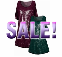 SOLD OUT! Pretty  Green or Burgundy Glimmer Print Plus Size & Supersize A-Line  Shirts 3x 4x 5x 6x 7x 8x 9x