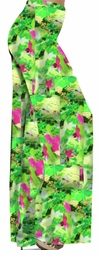 SOLD OUT! Pretty Green & Pink Floral Print Slinky Plus Size Palazzo Pants 7x