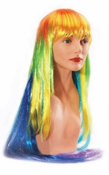 SALE! Pretty Long Rainbow Colorful Wig