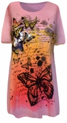 SOLD OUT! SALE! Pretty Pink Glitzy Butterfly Design Plus Size T-Shirts 1x
