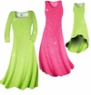 SALE! Pretty Pink or Lime Green Sparkle Glimmer Slinky Plus Size & Supersize Shirts & Pants 3X