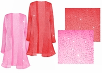 SOLD OUT! Pretty Pink or Red Sparking Sheer Plus Size & Supersize Jackets 0x 2x 4x 5x 7x