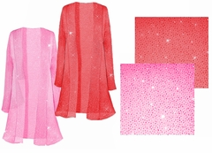 SOLD OUT! SALE! Pretty Pink or Red Sparking Sheer Plus Size & Supersize Jackets 0x