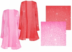 SALE! Pretty Pink or Red Sparking Sheer Plus Size & Supersize Jackets 0x 2x 4x 5x 7x