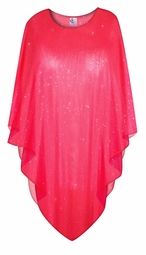 SOLD OUT! Sparking Red Sheer Plus Size Supersize Poncho