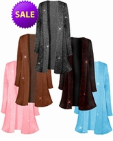 SOLD OUT! CLEARANCE! Pretty Sparking Glimmering Plus Size & Supersize Jackets Bronze Glimmer 1x