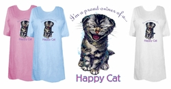SOLD OUT! FINAL SALE! Proud Owner of a Happy Cat Plus Size & Supersize T-Shirts Lg