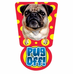 SALE! Pug Off 2 Plus Size & Supersize Dog T-Shirts S M L XL 2xl 3xl 4x 5x 6x 7x 8x (Lights Only)