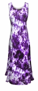 SALE! Purple & Lavender Tie Dye Cotton Plus Size & SuperSize Princess Cut Dress 0x 1x 2x 3x 4x 5x 6x 7x 8x