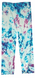 SALE! Purple & Blue Tie Dye Plus Size Poly/Cotton Pants 0x 1x 2x 3x 4x 5x 6x 7x 8x 9x