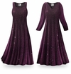 CLEARANCE! Purple Glimmer Plus Size & Supersize Standard or Cascading A-Line or Princess Cut Dresses XL 0x