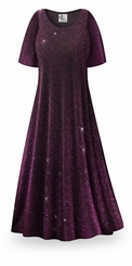 FINAL CLEARANCE SALE! Purple Glimmer Slinky Plus Size Supersize Jackets & Dresses 0x 3x 4x